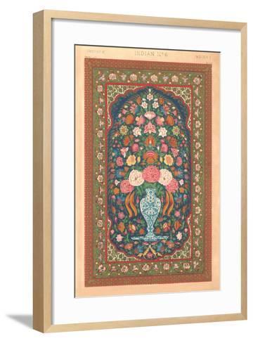 Indian Rug Pattern--Framed Art Print