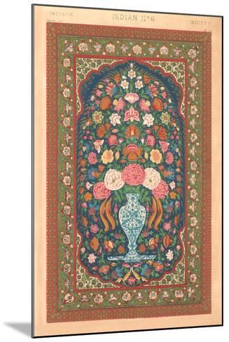 Indian Rug Pattern--Mounted Art Print