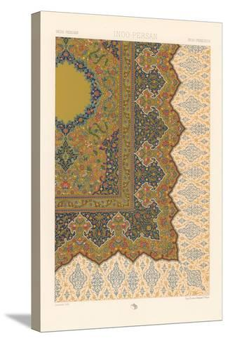 Indo-Persian Rug Pattern--Stretched Canvas Print
