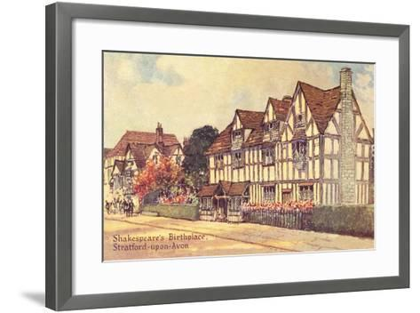 Shakespeare's Birthplace--Framed Art Print