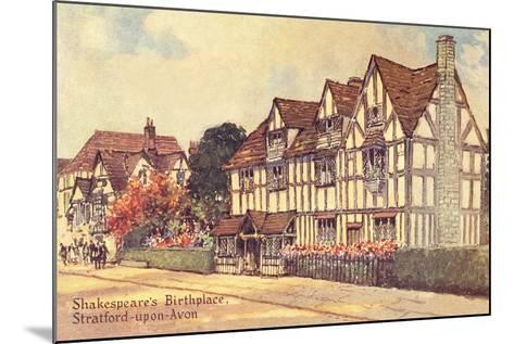 Shakespeare's Birthplace--Mounted Art Print