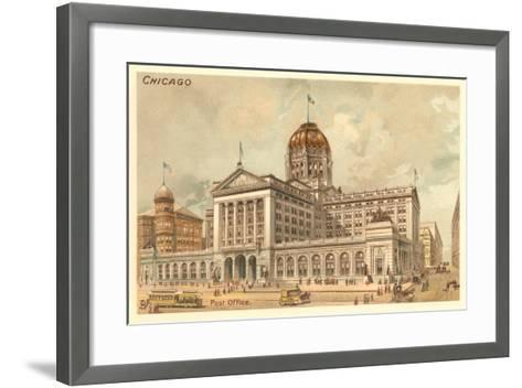 Vintage Chicago Post Office--Framed Art Print
