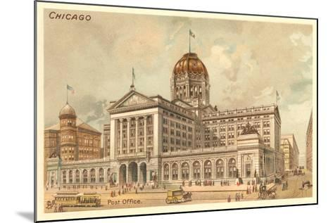 Vintage Chicago Post Office--Mounted Art Print