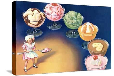 Puddings and Ice Cream--Stretched Canvas Print