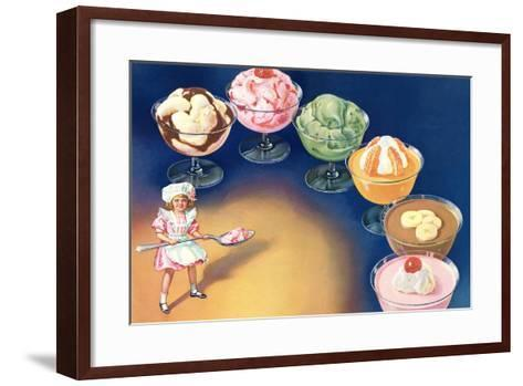 Puddings and Ice Cream--Framed Art Print