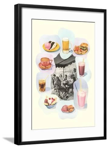 Soda Fountain Fare--Framed Art Print