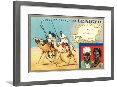 Map of Niger--Framed Art Print