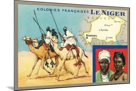 Map of Niger--Mounted Art Print
