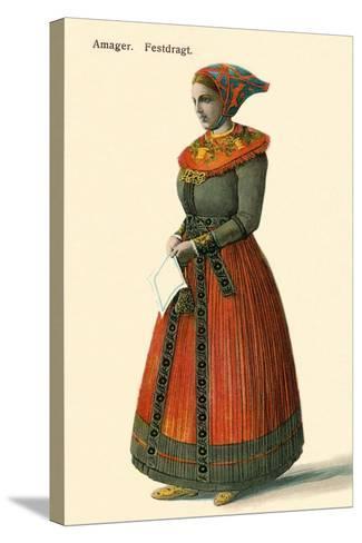 Native Dress, Copenhagen, Denmark--Stretched Canvas Print