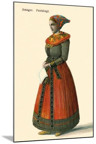 Native Dress, Copenhagen, Denmark--Mounted Art Print