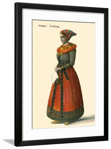 Native Dress, Copenhagen, Denmark--Framed Art Print
