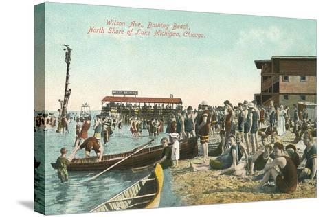 Wilson Avenue Bathing Beach--Stretched Canvas Print