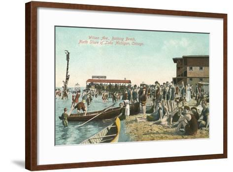 Wilson Avenue Bathing Beach--Framed Art Print