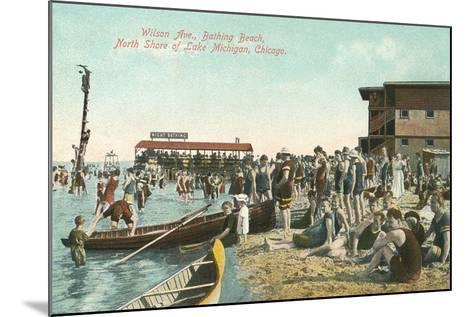 Wilson Avenue Bathing Beach--Mounted Art Print
