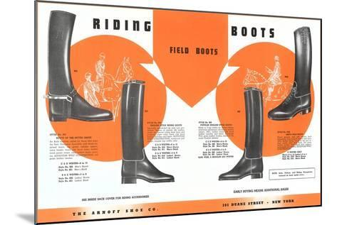 Riding Boots--Mounted Art Print