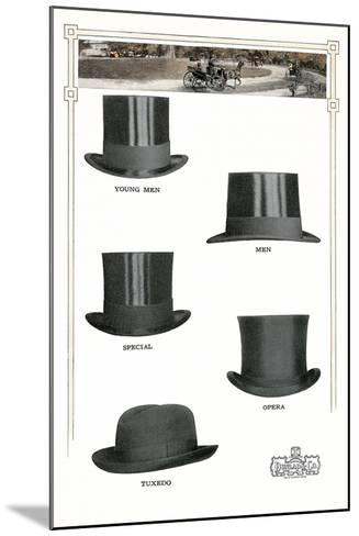 1910s Dunlap and Co. Men's Hats--Mounted Art Print