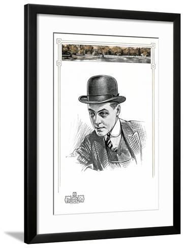 1910s Men's Hat Illustration--Framed Art Print