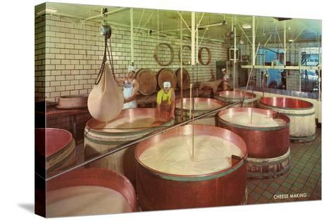 Vats of Cheese Curds--Stretched Canvas Print