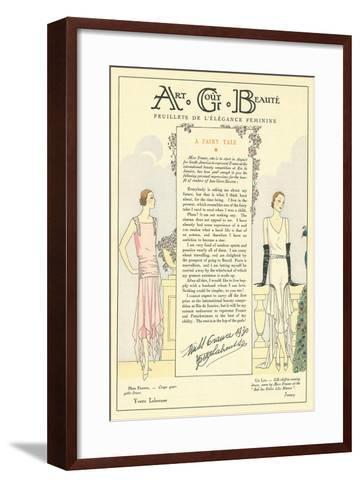 AGB Fashion Magazine--Framed Art Print