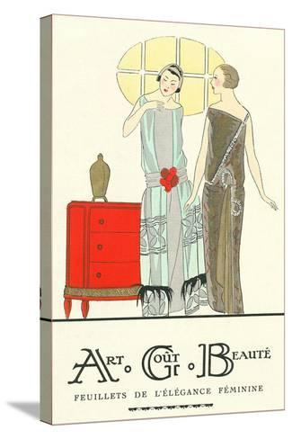 AGB French Fashion Illustration--Stretched Canvas Print