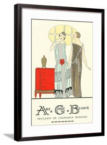 AGB French Fashion Illustration--Framed Art Print