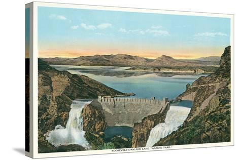 Roosevelt Dam, Apache Trail--Stretched Canvas Print
