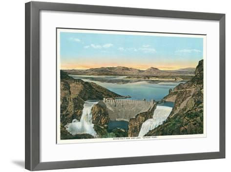 Roosevelt Dam, Apache Trail--Framed Art Print
