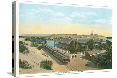 Southern Pacific Depot, Yuma--Stretched Canvas Print