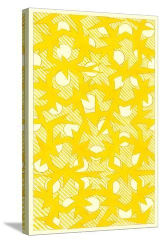 Yellow Walpaper Pattern--Stretched Canvas Print