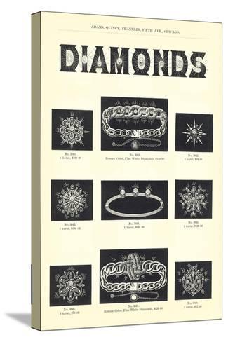 Diamond Jewelry Assortment--Stretched Canvas Print