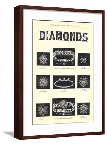 Diamond Jewelry Assortment--Framed Art Print