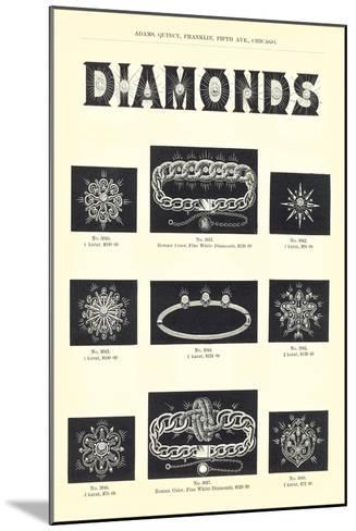 Diamond Jewelry Assortment--Mounted Art Print