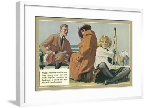 Fashion Advice for Knicker Suit--Framed Art Print