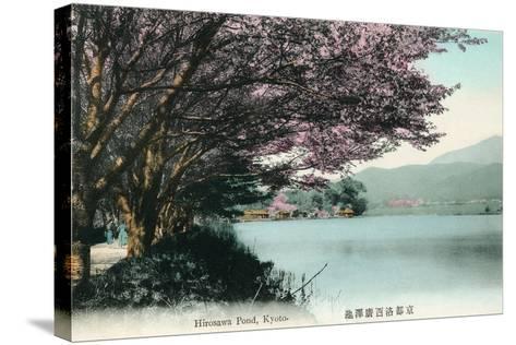 Hirosawa Pond, Kyoto--Stretched Canvas Print
