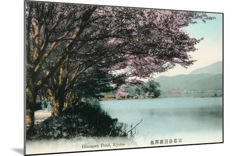 Hirosawa Pond, Kyoto--Mounted Art Print