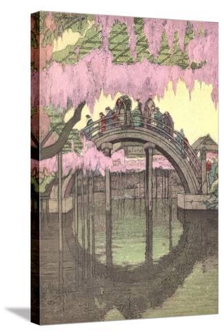 Hump-Backed Bridge, Kameido Tenjin--Stretched Canvas Print