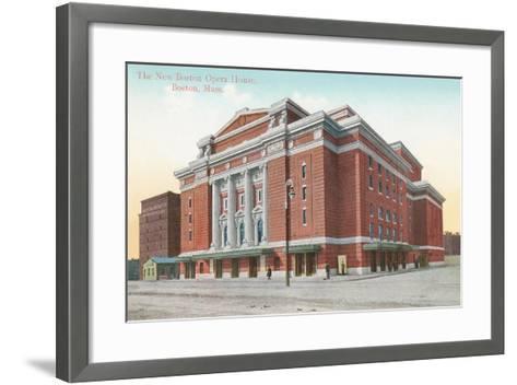 Boston Opera House--Framed Art Print