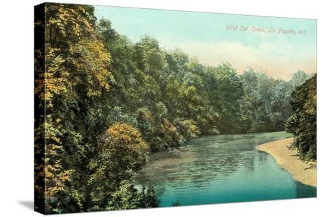 Wild Cat Creek, Lafayette--Stretched Canvas Print