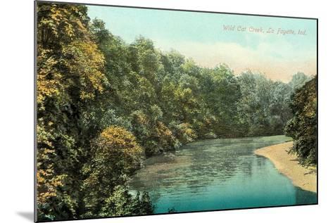 Wild Cat Creek, Lafayette--Mounted Art Print