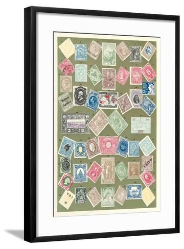 Stamps of the World--Framed Art Print
