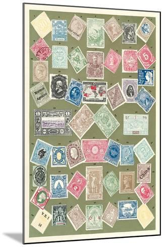 Stamps of the World--Mounted Art Print