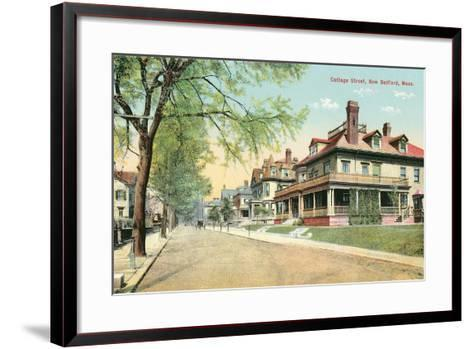 Cottage Street, New Bedford--Framed Art Print