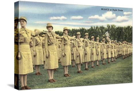 WAACS at Right Dress--Stretched Canvas Print