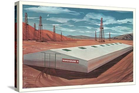 Futuristic Pre-Fab Factory--Stretched Canvas Print
