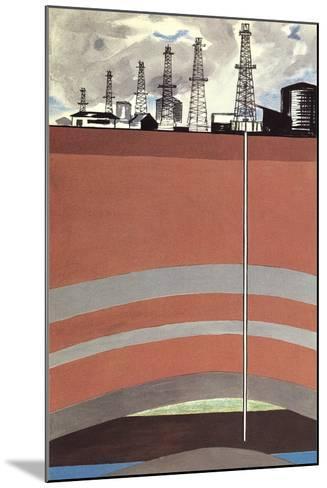 Oil Well Diagram--Mounted Art Print