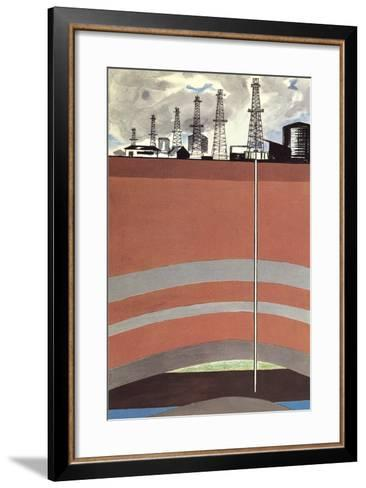 Oil Well Diagram--Framed Art Print