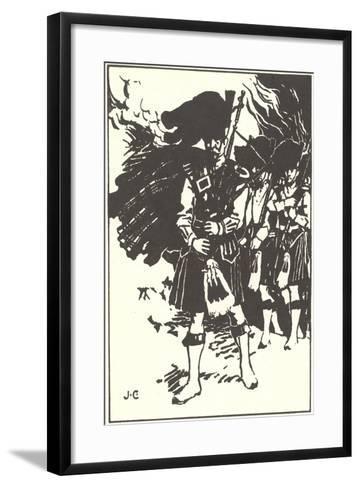 Bag Pipe Player--Framed Art Print