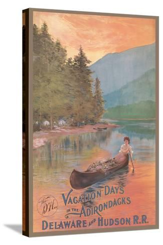 Adirondacks Travel Poster--Stretched Canvas Print