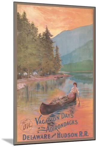 Adirondacks Travel Poster--Mounted Art Print