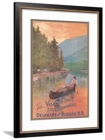 Adirondacks Travel Poster--Framed Art Print